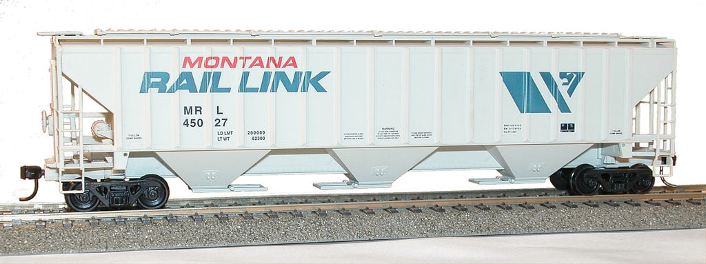 Accurail 6514 HO Montana Rail Link Pullman Standard-4750 3-Bay Covered Hopper Kit