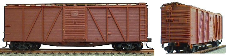 Accurail 7100 HO Undecorated 40' Dreadnaught End 6 Panel Boxcar