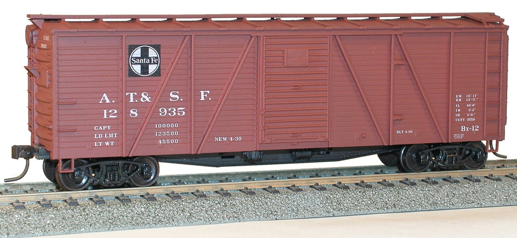 Accurail 71011 HO Santa Fe 40' Single Sheath Wood Boxcar