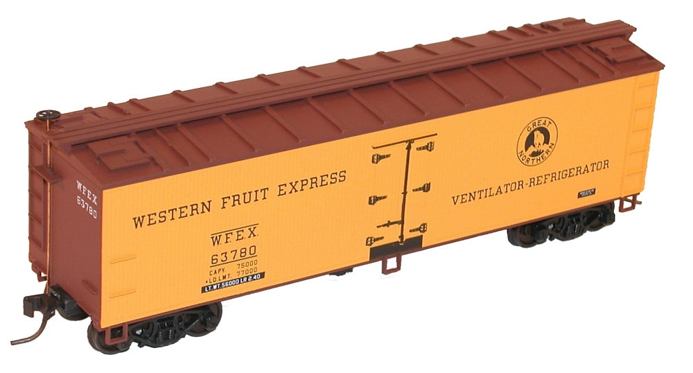 Accurail 8069 HO Western Fruit Express 40' Wood Reefer Kit  3 Car Set