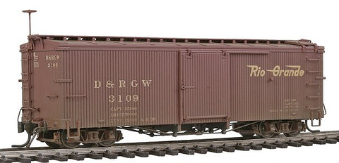Blackstone Models 340122W HOn3 Denver & Rio Grande Western 3000 Series 30' Boxcar #3109 - Weathered