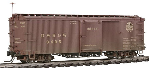 Blackstone Models 340124W HOn3 Denver & Rio Grande Western 3000 Series 30' Boxcar #3495 - Weathered