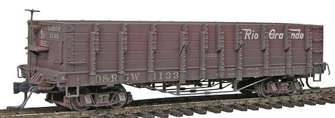 Blackstone Models 340404W HOn3 Denver & Rio Grande Western High Side Gondola #1133 -Weathered