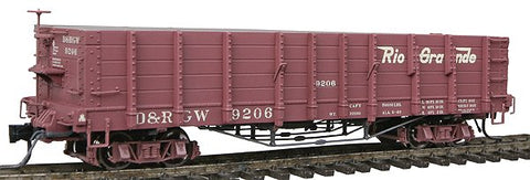 Blackstone Models 340414 HOn3 Denver & Rio Grande Western High Side Gondola #9206