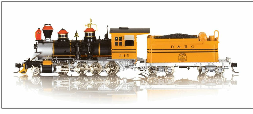 Blackstone Models 310208S HOn3 Denver & Rio Grande Western C-19 2-8-0 Steam Loco w/Sound/DCC #345