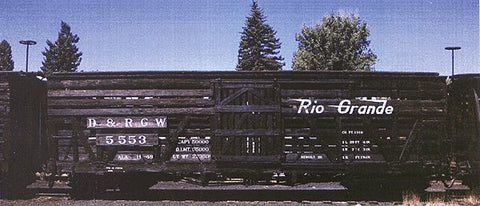 Blackstone Models 340200 HOn3 Denver & Rio Grande Western 5500-Series 30' Stock Car #5500