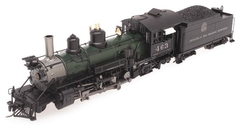 Blackstone Models 310110S HOn3 Denver & Rio Grande Western K-27 Steam Loco w/Sound/DCC #463