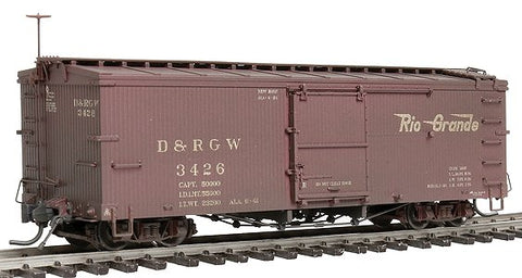 Blackstone Models 340131W HOn3 Denver & Rio Grande Western 3000 Series 30' Boxcar #3426 - Weathered
