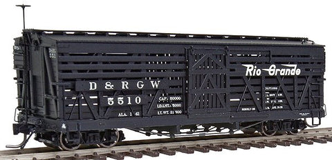 Blackstone Models 340226 HOn3 Denver & Rio Grande Western 5500-Series 30' Stock Car