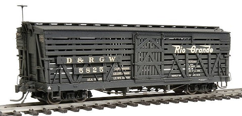 Blackstone Models 340230W HOn3 Denver & Rio Grande Western 5500-Series 30' Stock Car #5825 - Wthrd