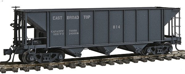 Blackstone Models 340701W HOn3 East Broad Top 3-Bay Hopper #814 - Weathered