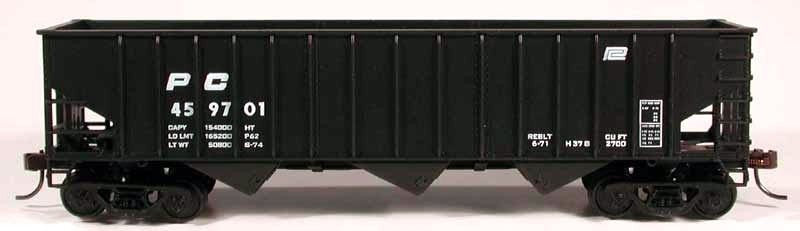 Bowser 56944 HO Penn Central 70 Ton 3-Bay 14-Panel Hopper Kit #459723