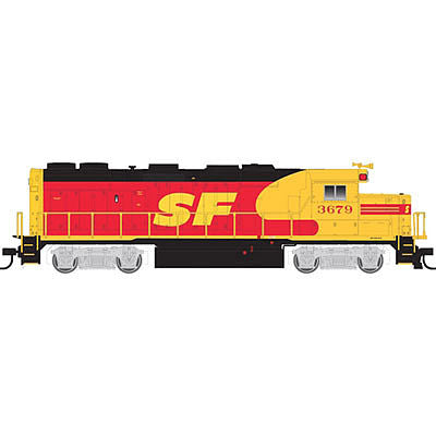 Atlas 10001791 HO Santa Fe (Kodachrome) EMD Phase II GP39-2 Diesel Engine #3693