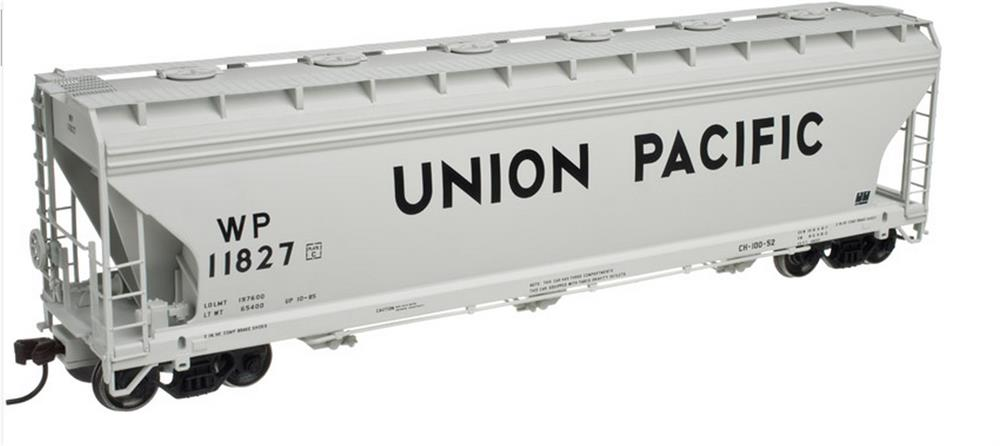 Atlas 20002861 HO Union Pacific 4650 3-Bay Centerflow Covered Hopper #11827