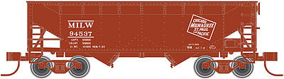 Atlas 20003149 HO Milwaukee Road 2-Bay Offset Side Hopper with Flat End