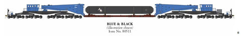 Bachmann 80511 HO Schnabel Car with Load Blue & Black