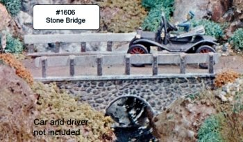 Campbell Scale Models 1606 HO Stone Bridge with Highway Accessories