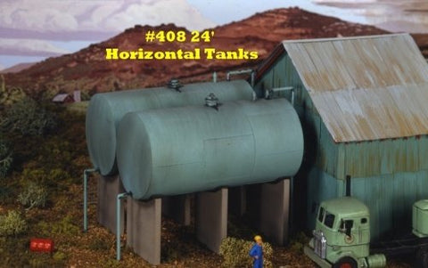 Campbell Scale Models 408 HO 24' Horizontal Tanks