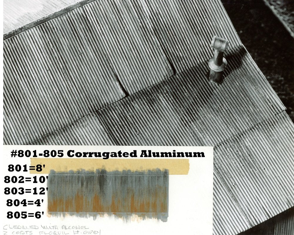 Campbell Scale Models 803 HO Corrugated Aluminum Sheets 12' 3.7m  (Pack of 6)