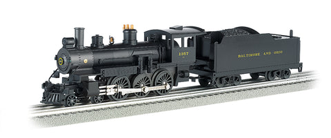 Williams 40607 O Baltimore & Ohio Baldwin 4-6-0 with Whistle, Bell & Smoke #1357 - 3 Rail