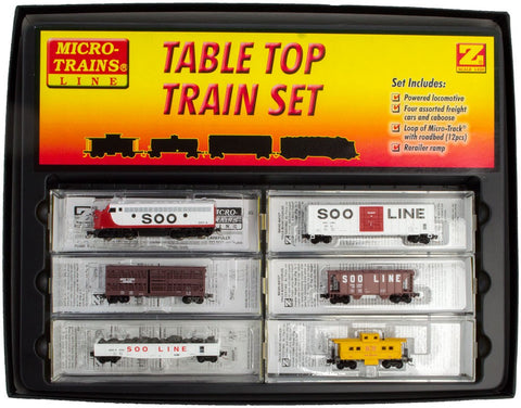MicroTrains 99403901 Z Desk Top Diesel Freight Train Set