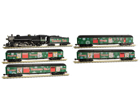 MicroTrains 99321260 N Reindeer Belt Christmas Train-Only Set
