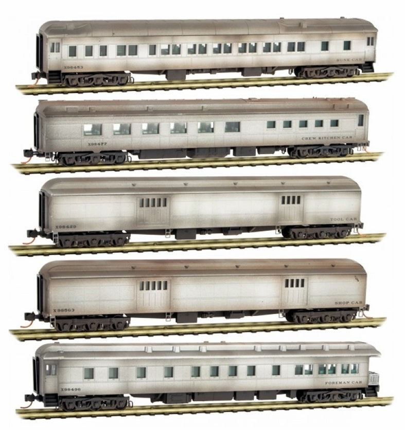 MicroTrains 99301360 N Maintenance-of-Way Pullman Heavyweight Work Train (5)