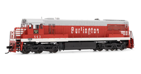 Rivarossi HR2615 HO Chicago, Burlington & Quincy GE U28C - Standard DC #563