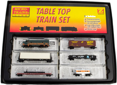 MicroTrains 99403061 Z Western Pacific F7 Train Set No Track (Green)