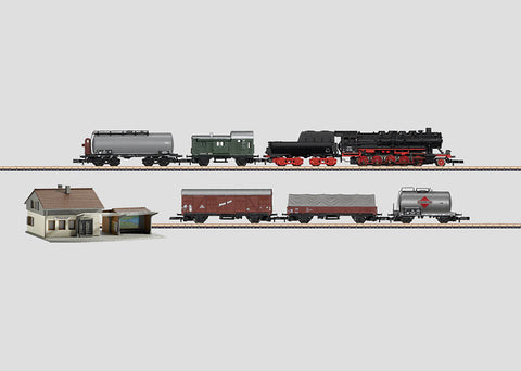 Marklin 81864 Z German Federal Railroad (DB) Steam Freight Starter Set