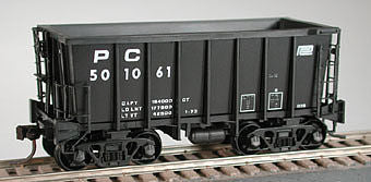 Bowser 25166 HO Penn Central Pennsylvania Class G39 70-Ton Ore Car with Crown Trucks #501209