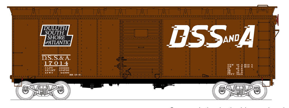 Bowser 41051 HO Duluth, South Shore & Atlantic Class X31a Round-Roof Boxcar #17018