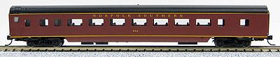 Con-Cor 40044 N Norfolk Southern 85' Smooth-Side Coach Car with Micro-Trains® Couplers