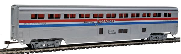Con-Cor 822 HO Amtrak Phase III 85' Streamlined Superliner Coach/Baggage Car