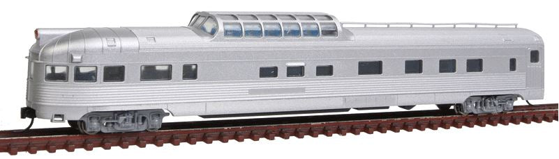 Con-Cor 41375 N Undecorated Budd 85' Corrugated-Side Dome-Observation Car
