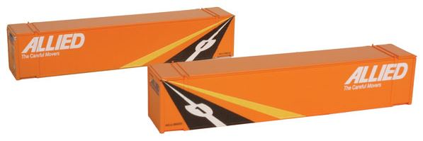 Con-Cor 448020 N Allied 48' Container 2-Pack Set #2