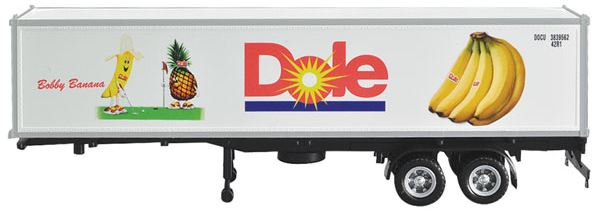 Con-Cor 483005 HO Dole 40' Reefer Container on Chassis