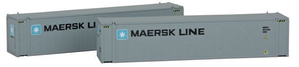 Con-Cor 444006 N Maersk 45' Intermodal Container 2-Pack #2 (Medium Lettering)