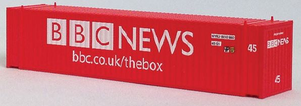 Con-Cor 444110 N BBC News 45' Euro-International Standard Corrugated Container 2-Pack Set #2