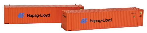 Con-Cor 444113 N Hapag Lloyd 45' Euro-International Standard Corrugated Container 2-Pack Set #1