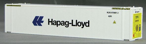 Con-Cor 83651 HO Hapag Lloyd 45' Thermo King Reefer Containers 2-Pack Set #1