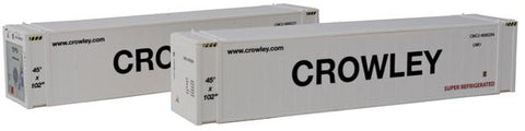 Con-Cor 83654 HO Crowley ThermoKing 45' Reefer Container 2-Pack Set #2