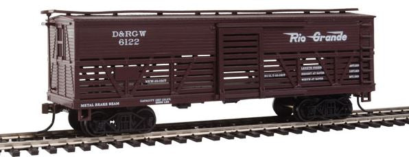 Con-Cor 1052091 HO Denver & Rio Grande Western Wood Stock Car (Old-Time Cattle) #2