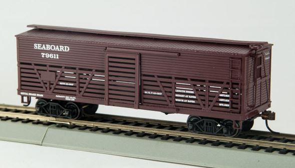 Con-Cor 1052039 HO Seaboard Coast Line Wood Stock Car (Old-Time Cattle) #1