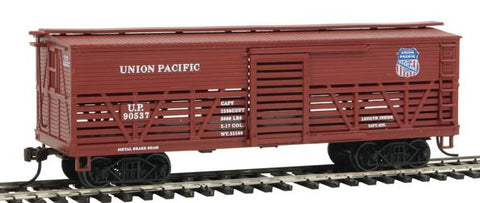 Con-Cor 1052035 HO Union Pacific Wood Stock Car (Old-Time Cattle) #1