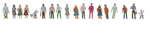 JMD Plastics 412 HO Standing People FIgures (Pack of 1000)
