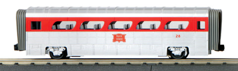 MTH 30-6179 O Rock Island GM Aerotrain Coach - 3-Rail - RailKing® Scale