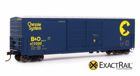 ExactRail 150004-1 HO Chessie System (B&O) Gunderson 5200 Cu.Ft. Box Car #475550