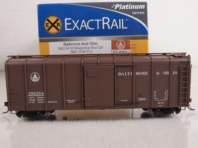 ExactRail 90054-2 HO Baltimore and Ohio M-53 Wagontop Box Car #381214