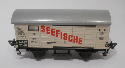 Fleischmann  1212 HO Germany Seefische Box Car All Metal